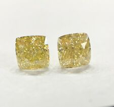 1.11 Cushion Fancy Yellow GIA Certified Earrings Loose Diamond Engagement Ring