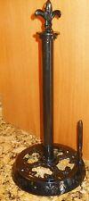 Old Dutch Jet Black Fleur de Lis Paper Towel Holder    **FREE SHIPPING**  NEW