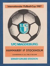 Orig.PRG   Intertoto Cup / IFC 1987    1.FC MAGDEBURG - HAMMARBY IF  !!  SELTEN