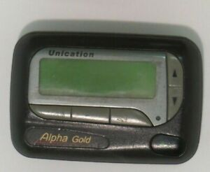 Unication Alpha Gold VHF Alphanumeric Used Pager 150.695 MHz