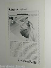 1929 Canadian Pacific cruise lines advertisement, Empress class ships CPR