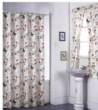 Shower Curtain Drapes + Bathroom Window Set w/ Liner+Rings  Butterfly Design