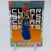 2019-20 Illusions Basketball Clear Shots ORANGE Stephen Curry
