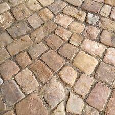 0,5 qm Pflastersteine Buntsandstein Weg Bach Natursteinpflaster Rasenkante Mauer