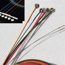 Set of 6 Rainbow Color Acoustic Guitar Strings