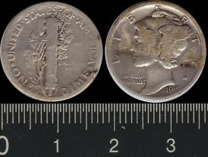 USA: 1919S One Dime Winged Liberty silver 10c