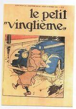 Carte Postale Tintin et la voiture bleue. Petit Vingtième du 13 février 1936