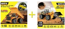OFFERTA HUINA TOYS > 1520 BULLDOZER + 1540 CAMION RC 1:18 6CH 2.4GHz + 2BATTERIE