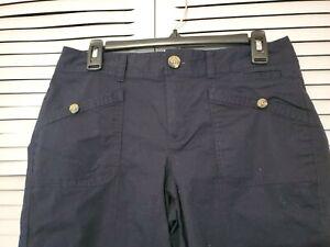 DOCKERS Bermuda Pants Womens Size Petite 10  casual black