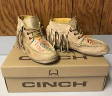 New Women's Ladies 7 B Cinch Fringe Chukk CCW3015 Shoes