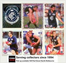 POPULAR-2000 Select AFL Stickers Base Team Set Carlton (15)