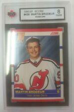 1 X Martin Brodeur 1990-91 Score CDA Rookie Card # 439 Mint KSA Graded 8 RC NM