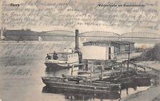 Thorn / Toruń Dampfer Hoffnung - Thorn am Eisenbahnbrücke Postkarte 1914
