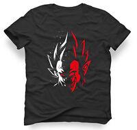 Mens Unisex Dragon Ball Z Vegeta Two Face Super Saiyan Anime T-Shirt