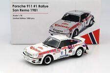 Otto Mobile Porsche 911 SC Groupe 4 Rallye San Remo 1981 #1 1/18 LE of 1000 New!