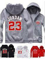 Mens Hoodie Michael Jordan 23 Hooded Jacket Men Zip Up Sweatshirt Jumper Coat