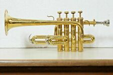 Pro Piccolo Trumpet Brass Bb/A pitch Approved by Professionals with Hard case