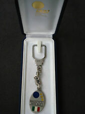 Italian Football Federation silver key chain, boxed, Italy