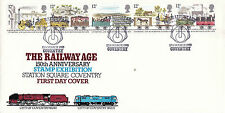 12 MARCH 1980 LIVERPOOL & MANCHESTER RAILWAY FLETCHER LE FDC COVENTRY SHS