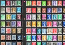 GB QEII Decimal MACHIN Defins Comprehensive USED Collection 140 STAMPS Ref:GB19D