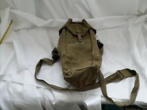 Belgian army surplus canvas and leather shoulder equipment bag