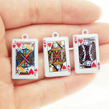 12 PCS/Lot Mixed Lot Assorted Jack Queen King Poker Charms Pendant DIY Findings