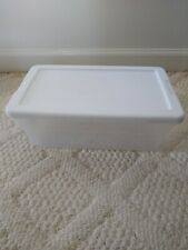 Sterilite 6 Quart Storage Container Clear With White Lid