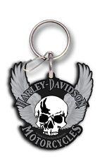 Macizo Harley-Davidson Llavero ALAS DEL CRÁNEO Key Fob PC4219