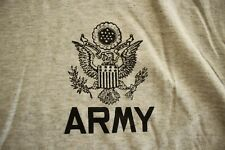 US ARMY GI EAGLE ALL RANKS SPECIALTIES ATHLETIC PT GROUND AIR SS GRAY T-SHIRT 2X