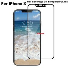 Genuine Tempered Glass Screen Protector For Apple iPhone X - 100% BLACK