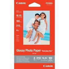 CARTA FOTOGRAFICA GLOSSY INKJET CANON 100 FOGLI 10 X 15 200 GRAMMI!!