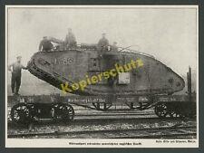 Sturmwagengeschwader botín tanques Mark IV Reich transporte ferroviario lille Landser 1918