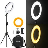 """Zomei 18"""" 5500K LED Ring Light 55W Dimmable with Light Stand Kit for Photography"""