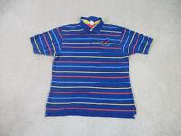 VINTAGE Disney Tigger Polo Shirt Adult Large Blue Orange Golfer Rugby Mens 90s *