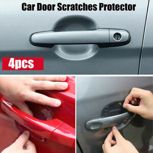4x Car Accessories Door Handle Invisible Scratches Protection Protector Sticker