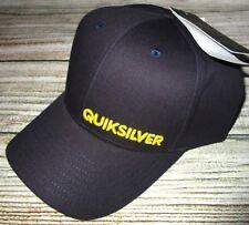 MENS QUIKSILVER DARK BLUE SNAPBACK ADJUSTABLE HAT CAP ONE SIZE