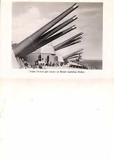 BRITISH BATTLESHIP RODNEY TRIPLE GUN TURRETS UNUSED PHOTOGRAPH POSTCARD
