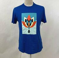 Obey Men's Recycled Organic T-Shirt Geometric Flower Royal Blue Size M NWT