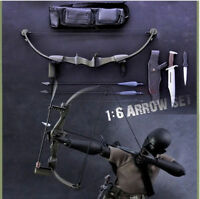 """12"""" Action Figure Doll Weapon Model X-TOYS 1:6 Scale Bow Arrow Set+Knife Toys"""
