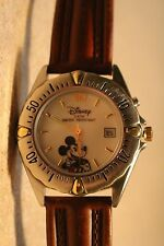 Mens Vintage Disney Mickey Mouse Watch (Indiglo)-Date Window-(Rotating Bezel)New