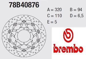 Disco freno BREMBO Serie Oro ANT Honda 1000 CBR RR SP 14 >