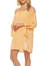 8b24b43e4b AA44 Jessica Simpson tangerine orange off the shoulder swimsuit cover up M