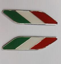 A PAIR OF Italy Italian Flag Emblem Badge Alfa Romeo FIAT Maserati FERRARI