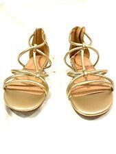 A New Day Women's Gold/Samina Tubular Gladiator Sandal - size 8w
