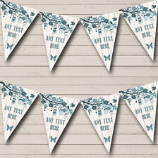 Shabby Chic Vintage Wood Teal Personalised Wedding Bunting Banner Garland