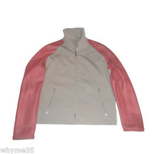 New Hermes Grey w Red Mesh Type Sleeves Reversible Sporty Jacket  50 / 40  M