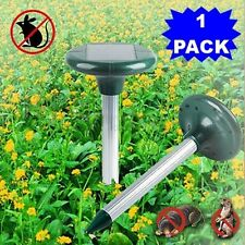 1 Yard Solar Power Ultrasonic Sonic Mouse Mole Pest Rodent Repeller Repellent