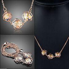 Ovale Modeschmuck-Halsketten & -Anhänger aus Kristall und Metall-Legierung
