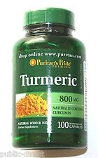Natural Turmeric Curcumin 800 mg 100 Capsules Antioxidant Brain Health Root Pill