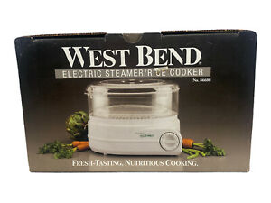 West Bend Electric Food Steamer Rice Cooker Model 86600 White